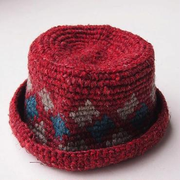 mash MS-BDNS-07 Knit HAT (#6 DARK RED)