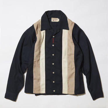 """【 PAPERMIC × LONG SET 】#10 """"ATTRACTION by Permint"""" 70's SHIRT JACKET ( BLACK / SIZE : M )"""