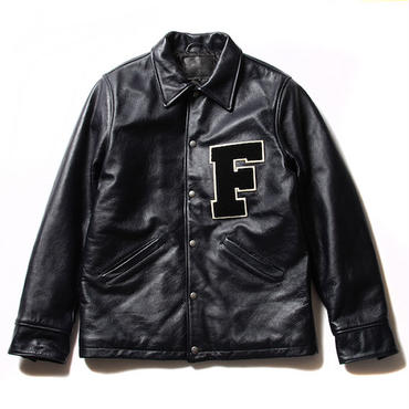 FUCT/SSDD 41514 LEATHER COACH JACKET (NAVY)