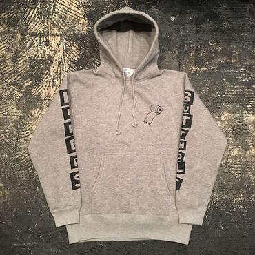 "【 LIFERS 】""BUTTHOLE LIFERS"" PULLOVER PARKA (HEATHER GRAY) LONG SET 5th ANNIVERSARY 別注"