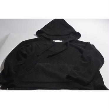 "【 tr.4 suspension 】tr.4 ""El Chapo"" PILE PULLOVER HOODED ( BLACK )"