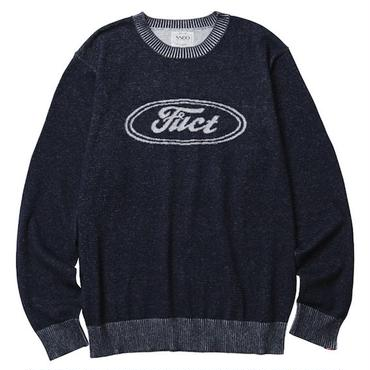 FUCT/SSDD 7003 F OVAL SWEATER (NAVY)
