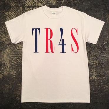 "【 tr.4 suspension 】Lot of Frames ""TR4S.LOGO"" S/S TEE ( WHITE )"
