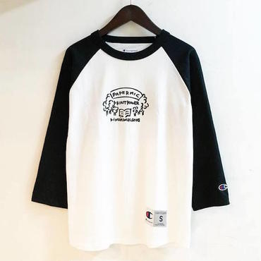 "【 PAPERMIC 】""Thinking High Time"" CHAMPION BB TEE ( BLACK )"