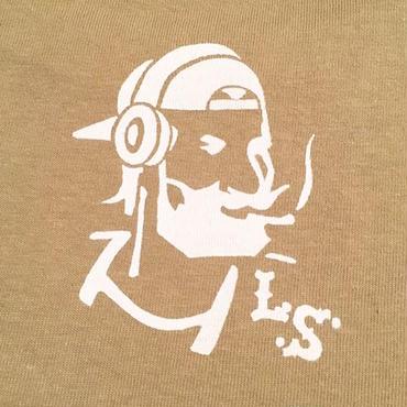"【 LONG SET ORIGINAL 】LSD-012 ""DJ ZIG-ZAG MAN"" WIDE POCKET T-SHIRT (SAND BEIGE)"