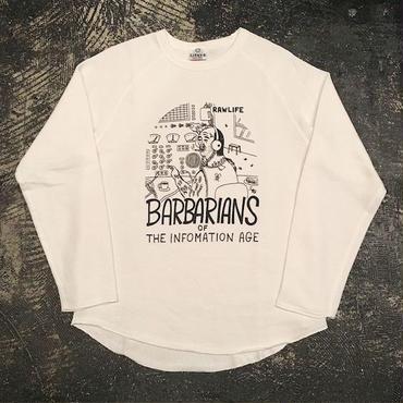 "【 LIFERS 】L-034 ""BARBARIANS"" CUTOFF SWEAT (VANILLA WHITE)"
