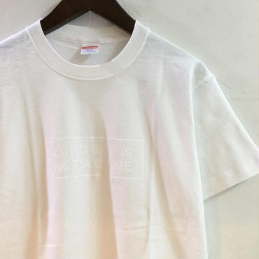"【 LONG SET ORIGINAL 】LSD-022 ""NOT A CRIME"" T-SHIRT (WHITE)"