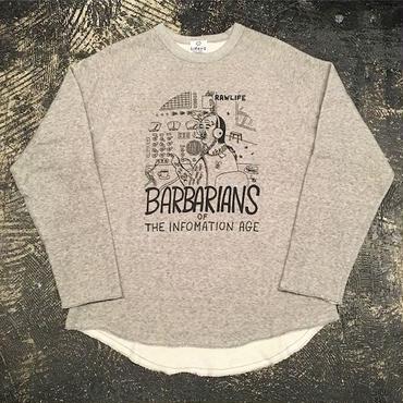 "【 LIFERS 】L-034 ""BARBARIANS"" CUTOFF SWEAT (VINTAGE GRAY)"
