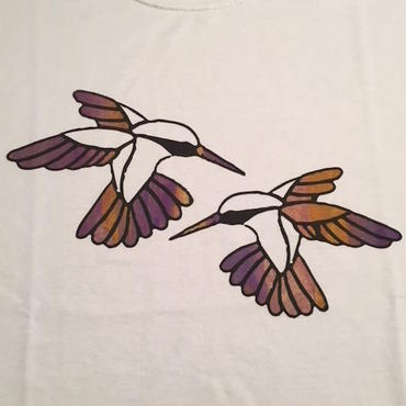 """【 tr.4 suspension 】""""Humming Bird"""" EDITION PRINT S/S TEE ( WHITE / #14 - SIZE : L )"""