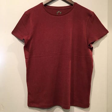 mash mashRe-22 Plain Tee (DARK RED)