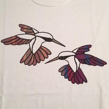 "【 tr.4 suspension 】""Humming Bird"" EDITION PRINT S/S TEE ( WHITE / #9 - SIZE : M )"