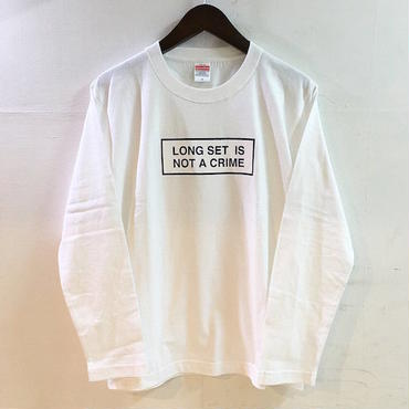 "【 LONG SET ORIGINAL 】LSD-021 ""NOT A CRIME"" LONG SLEEVE T-SHIRT (WHITE)"