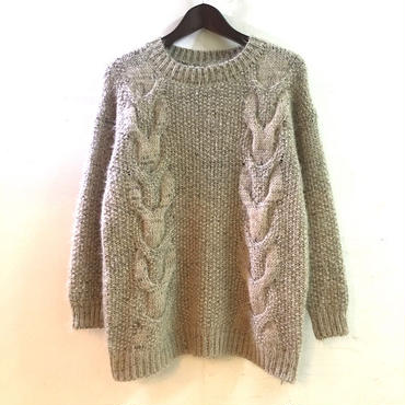 【OLD】 MOHAIR CABLE KNIT SWEATER (表記なし)