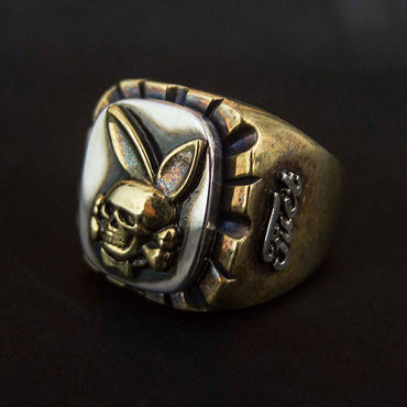 FUCT/SSDD 4405 DEATH BUNNY RING (BRASS×SILVER925)