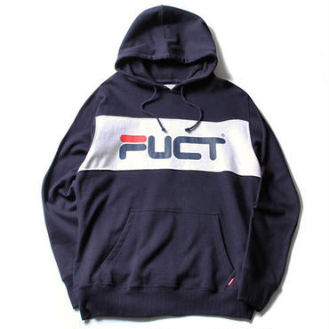 FUCT/SSDD 41902 PANEL PULLOVER HOODIE (NAVY)