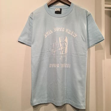 "PIECE BOOKS EVIL DOTS CREW ""STOPS TOYS"" T-SHIRT (LIGHT BLUE) LONG SET 別注カラー"