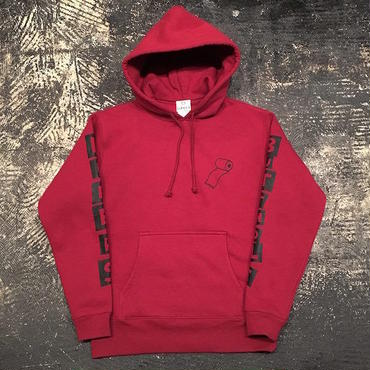 "【 LIFERS 】""BUTTHOLE LIFERS"" PULLOVER PARKA (BURGUNDY) LONG SET 5th ANNIVERSARY 別注"