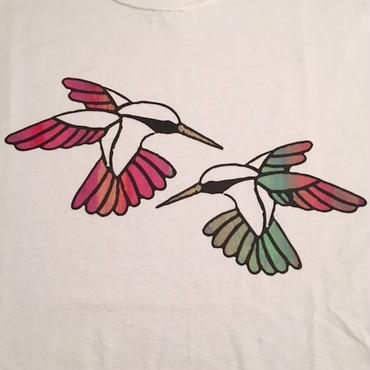 "【 tr.4 suspension 】""Humming Bird"" EDITION PRINT S/S TEE ( WHITE / #8 - SIZE : M )"
