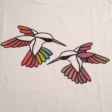"【 tr.4 suspension 】""Humming Bird"" EDITION PRINT S/S TEE ( WHITE / #10 - SIZE : M )"