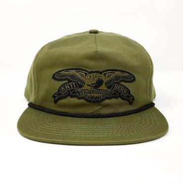 "【 ANTI HERO 】""STOCK EAGLE PATCH"" SNAPBACK CAP ( OLIVE )"