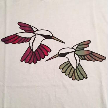 "【 tr.4 suspension 】""Humming Bird"" EDITION PRINT S/S TEE ( WHITE / #5 - SIZE : M )"