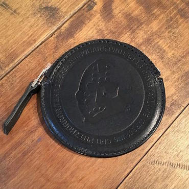 【 NO CARE 】NC LOGO LEATHER COIN CASE (BLACK)
