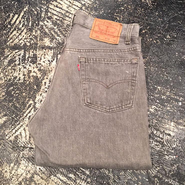 【OLD】 Levi's 501 BLACK DENIM PANTS (W30×L34)