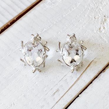 Branch  pierce 06 white quartz oval