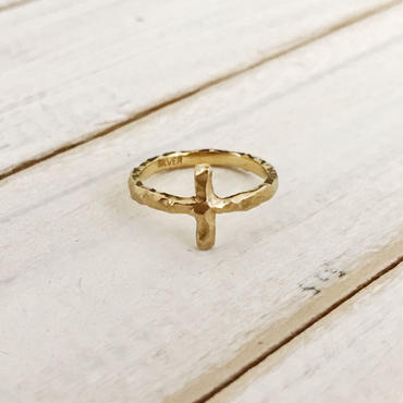 Stone ring  cross 2mm