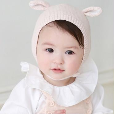 耳付きニット帽