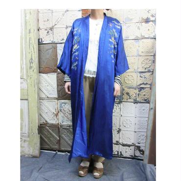 China Gown  チャイナガウン  刺繍 古着 ブルー