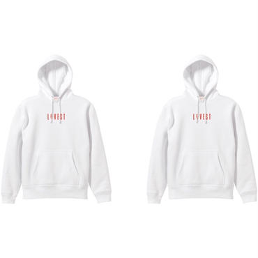 LOVEST LOGO HOODIE TWIN PACK / White × White