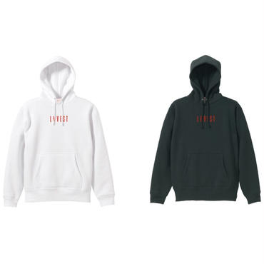LOVEST LOGO HOODIE TWIN PACK / Black × White