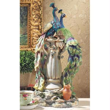 楽園の孔雀(ピーコック)美術彫刻 彫像