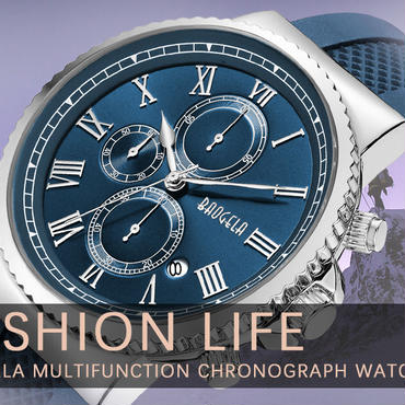 baogela 高級クォーツ時計男性クロノグラフスポーツ腕時計男性防水因果時計レロジオmasculino