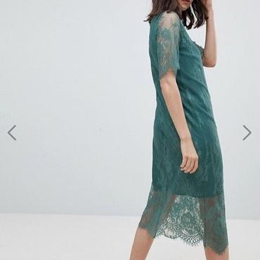 ASOS/Pieces T-Neck Lace Midi Dress