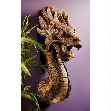 火龍(ファイヤー・ドラゴン)彫刻 彫像 The Fire Dragon Wall Sculpture