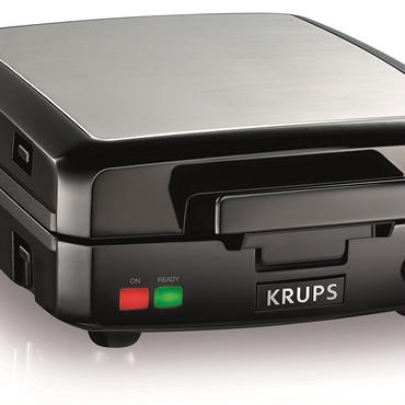 KRUPS ワッフルメーカー GQ502D Adjustable Temperature Belgian Waffle Maker with Removable Plates, 4-Slice
