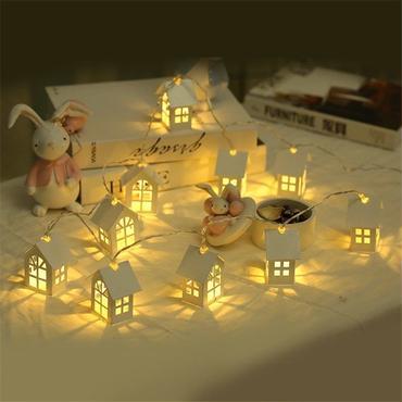 クリスマス  木製 ハウス イルミネーション キャンドルライト おしゃれ 照明  プレゼント ギフト