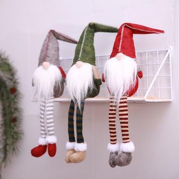 クリスマス サンタクロース 小人 人形 ぬいぐるみ  飾り デコレーション 3体セット