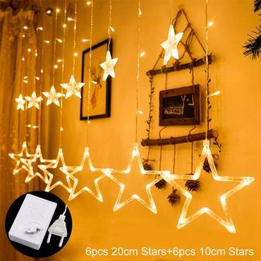 クリスマス イルミネーション  屋内 屋外  スター  星型照明  ペンダントライト 3色