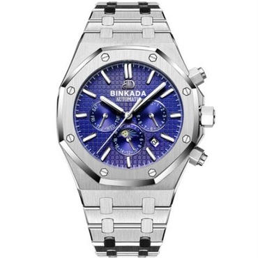 binkada腕時計ムーンフェイズ メカニカルウォッチ メンズ 高級トップブランド