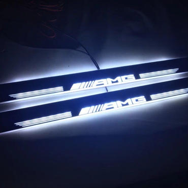 ベンツ  W222 2014 2015Sクラス LEDイルミスカッフプレート AMGロゴ 2枚セット