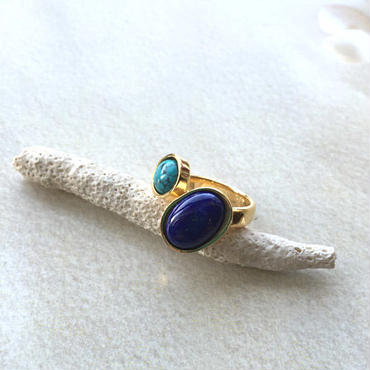 Lapis lazuli & turquoise ring