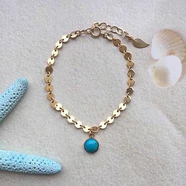 Disc circle chain bracelet