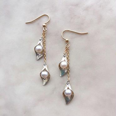 Pearl bud pierced