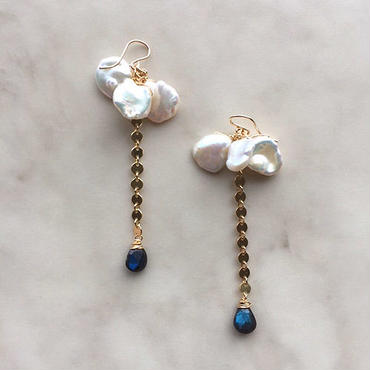 Keshi pearl  pierced