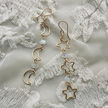 Moon & star pierced