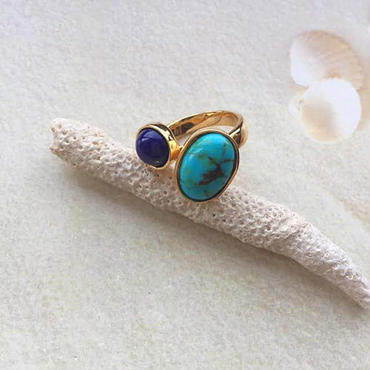 Turquoise& lapis lazuli ring