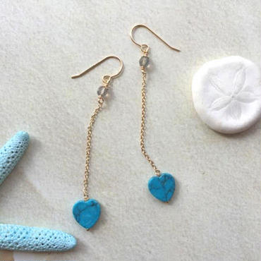 Heart turquoise pierced